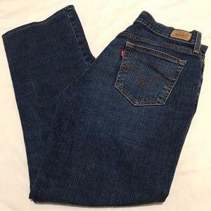 Levi Strauss Long Bootcut Blue Jeans-515